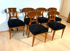 Set of Six Biedermeier Shovel Chairs Walnut Veneer South Germany circa 1860 - 1982997