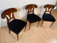 Set of Six Biedermeier Shovel Chairs Walnut Veneer South Germany circa 1860 - 1982999