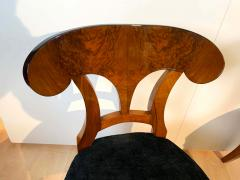 Set of Six Biedermeier Shovel Chairs Walnut Veneer South Germany circa 1860 - 1983000