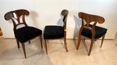 Set of Six Biedermeier Shovel Chairs Walnut Veneer South Germany circa 1860 - 1983001