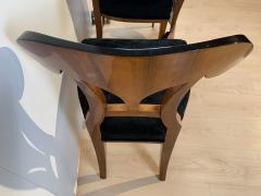 Set of Six Biedermeier Shovel Chairs Walnut Veneer South Germany circa 1860 - 1983002
