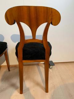 Set of Six Biedermeier Shovel Chairs Walnut Veneer South Germany circa 1860 - 1983014