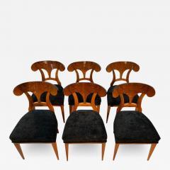 Set of Six Biedermeier Shovel Chairs Walnut Veneer South Germany circa 1860 - 1985760