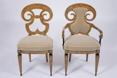 Set of Six Burled Empire Dining Chairs - 1988055