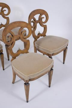 Set of Six Burled Empire Dining Chairs - 1988057