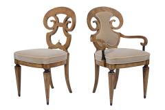 Set of Six Burled Empire Dining Chairs - 1988059