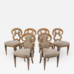 Set of Six Burled Empire Dining Chairs - 2035969