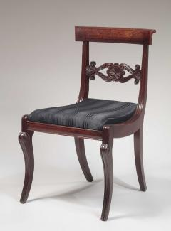 Set of Six Carved Mahogany Dining Chairs - 1227365
