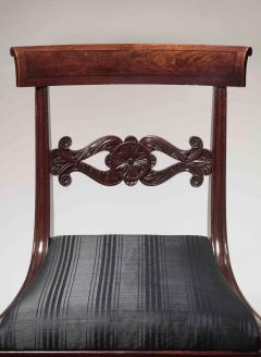 Set of Six Carved Mahogany Dining Chairs - 1227366