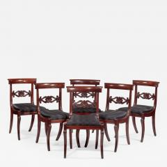 Set of Six Carved Mahogany Dining Chairs - 1228859