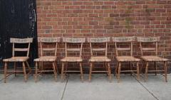 Set of Six Chairs Salmon Painted and Decorated Pennsylvania circa 1840 - 552824