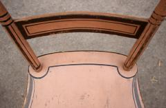 Set of Six Chairs Salmon Painted and Decorated Pennsylvania circa 1840 - 552828
