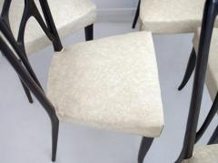 Set of Six Ebonized Wood Dining Chairs - 1625728