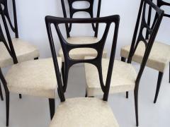 Set of Six Ebonized Wood Dining Chairs - 1625729
