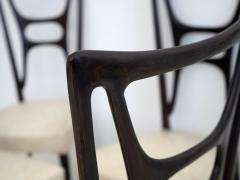 Set of Six Ebonized Wood Dining Chairs - 1625731