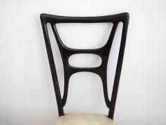 Set of Six Ebonized Wood Dining Chairs - 1625733