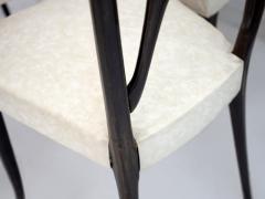Set of Six Ebonized Wood Dining Chairs - 1625735