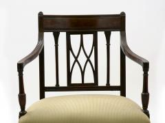 Set of Six English Regency Carved Mahogany Antique Dining Chairs circa 1800 - 1126756