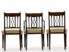 Set of Six English Regency Carved Mahogany Antique Dining Chairs circa 1800 - 1126757