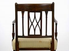 Set of Six English Regency Carved Mahogany Antique Dining Chairs circa 1800 - 1126758