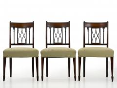 Set of Six English Regency Carved Mahogany Antique Dining Chairs circa 1800 - 1126761