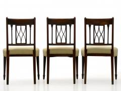 Set of Six English Regency Carved Mahogany Antique Dining Chairs circa 1800 - 1126764