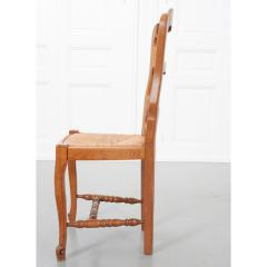 Set of Six French 20th Century Rush Seat Dining Chairs - 1931877
