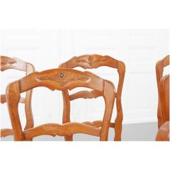Set of Six French 20th Century Rush Seat Dining Chairs - 1931878