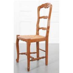 Set of Six French 20th Century Rush Seat Dining Chairs - 1931880