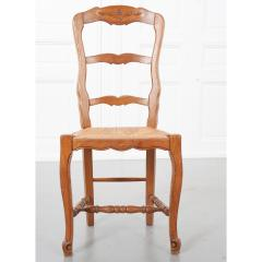 Set of Six French 20th Century Rush Seat Dining Chairs - 1931881
