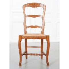 Set of Six French 20th Century Rush Seat Dining Chairs - 1931882