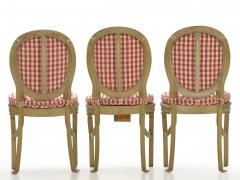 Set of Six French Antique Painted Theater Seats Dining Chairs circa 1890 - 1125045