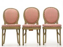 Set of Six French Antique Painted Theater Seats Dining Chairs circa 1890 - 1125046