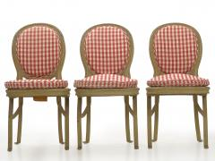 Set of Six French Antique Painted Theater Seats Dining Chairs circa 1890 - 1125053