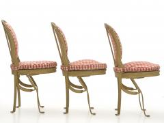 Set of Six French Antique Painted Theater Seats Dining Chairs circa 1890 - 1125055