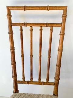 Set of Six Fruitwood Bamboo Style Dining Chairs - 1749550