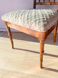 Set of Six Fruitwood Bamboo Style Dining Chairs - 1749556
