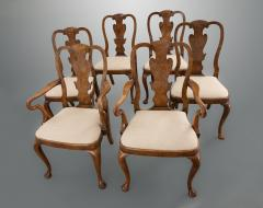 Set of Six George I Revival Walnut Dining Chairs - 1120867