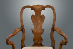 Set of Six George I Revival Walnut Dining Chairs - 1120869