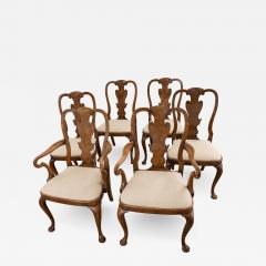 Set of Six George I Revival Walnut Dining Chairs - 1121461