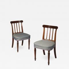 Set of Six George III Mahogany Dining Chairs - 1001614