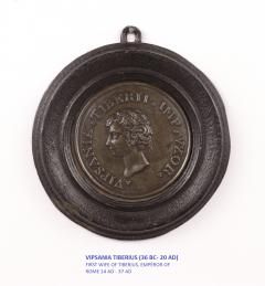 Set of Six Grand Tour Spelter Medallions Mid 19th c  - 1220334