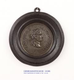 Set of Six Grand Tour Spelter Medallions Mid 19th c  - 1220335
