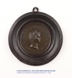 Set of Six Grand Tour Spelter Medallions Mid 19th c  - 1220337