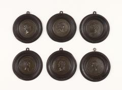 Set of Six Grand Tour Spelter Medallions Mid 19th c  - 1220345