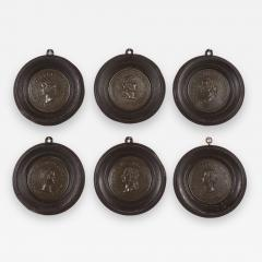 Set of Six Grand Tour Spelter Medallions Mid 19th c  - 1220416