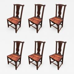 Set of Six Late 18th Century Country Chippendale Chairs - 426136