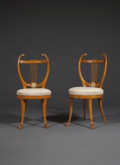 Set of Six Lyre Back Chairs - 1932235
