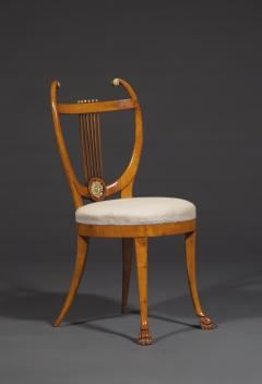 Set of Six Lyre Back Chairs - 1932236