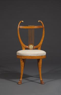 Set of Six Lyre Back Chairs - 1932237